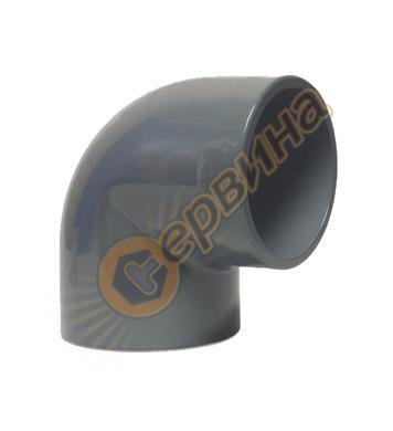 Коляно PVC дебелостенно 0160108 - ф32-87°