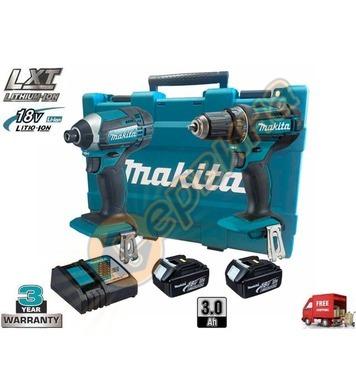 Комплект Makita DLX2127X акумулаторен ударен винтоверт - гай