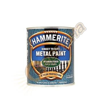 Боя за метал Hammerite хамър ефект Маслено зелен 0.75л - 501
