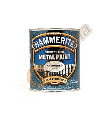 Боя за метал Hammerite хамър ефект Бял 0.75л - 5011867242163