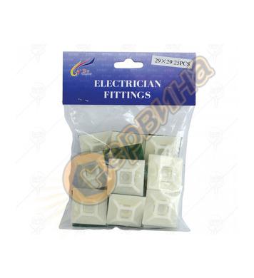 Лепенка за кабелни превръзки Premium 100бр. 28х28мм 38432