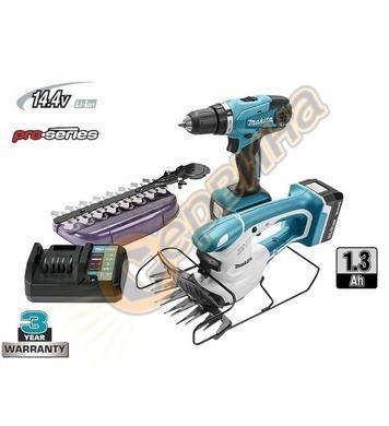 Комплект акумулаторни инструменти Makita DK14004X1 14.4V/1.3
