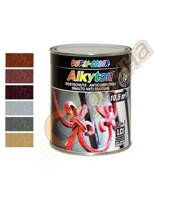 Боя за метал Dupli Color Alkyton хамър ефект 0.75л - 043101