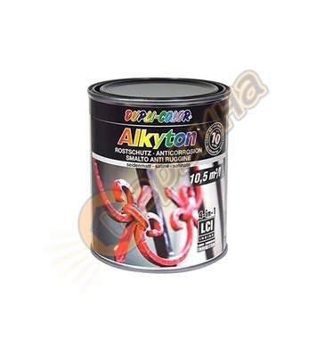 Боя за метал Dupli Color Alkyton сатен Черна 0.75л - 043089