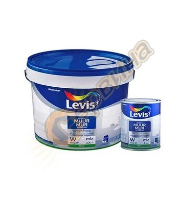 Латексова интериорна боя Levis Muur Mat Mix мат Бяла 1л/2.5л