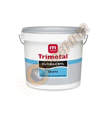 Декоративна релефна боя Trimetal Globacryl Quartz Бяла 10л -