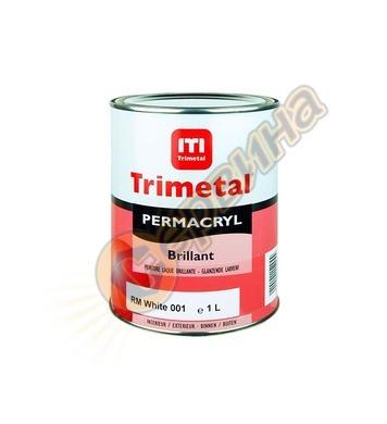 Акрилна боя Trimetal Permacryl Brilliant гланц Бяла 1л/10л -