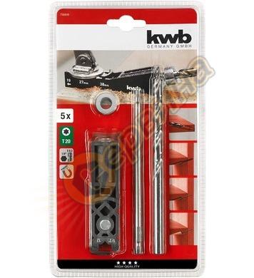 Шаблон за сглобки комплект KWB 758600 - 5части
