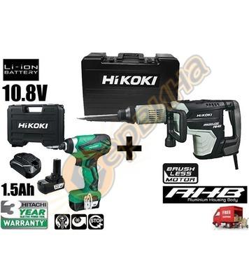 Професионален къртач HiKoki-Hitachi H60ME - 1500W + акумулат