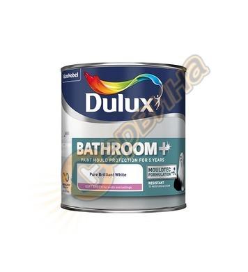 Латексова интериорна боя за бани Dulux Bathroom+ Бяла 1л - 5