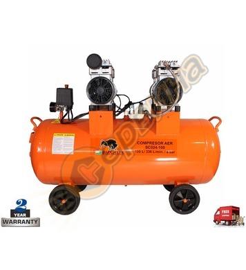 Безмаслен компресор Bisonte SC024-100 BT1008905 - 100л/8бара