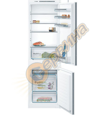 Хладилник с фризер за вграждане Bosch KIV86VS30 LowFrost