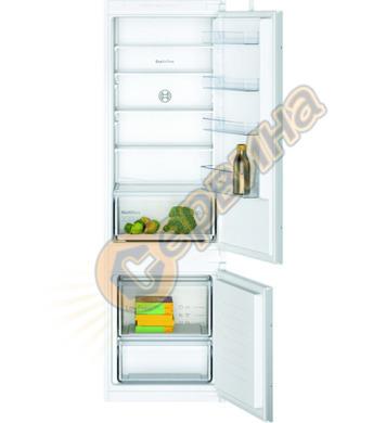 Хладилник с фризер за вграждане Bosch KIV87NSF0 LowFrost 424