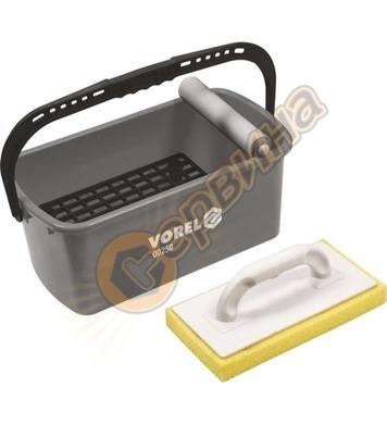 Комплект кофа за почистване на плочки след фугиране Vorel 00