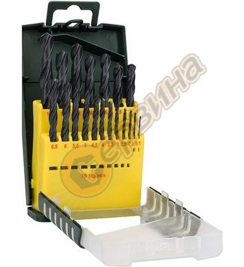 Комплект свредла за метал HSS-R Bosch 2607017151 - 19части