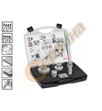 К-т диамантени боркорони Bosch Dry Speed 2608576669 20/25/35