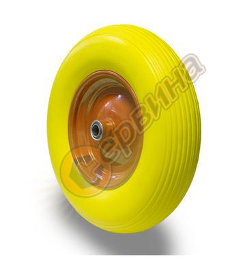 Колело за количка PU жълто Premium 41205 - 360мм