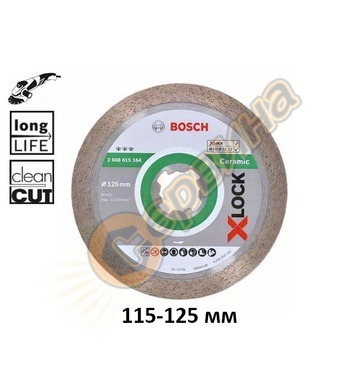 Диамантен диск Bosch X-LOCK Best for Ceramic 2608615163 - 11