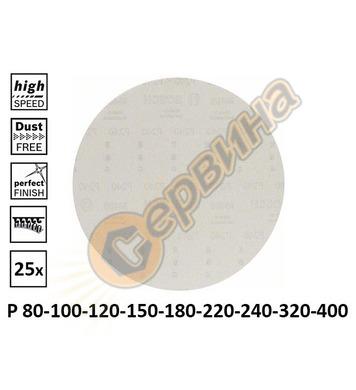 Шкурка за шлайф машини Bosch M 480 2608621180 ф225мм P80-400