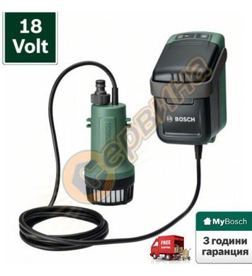 Акумулаторна помпа за дъждовна вода Bosch GardenPump 18 0600