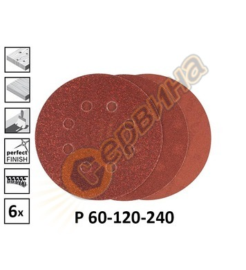 Комплект шкурки за шлайф машини Bosch C430 2608605112 ф125мм