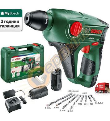 Акумулаторен перфоратор Bosch Uneo 060398400E - 12V/2.5Ah Li