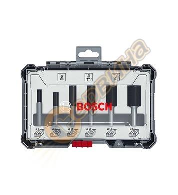 Комплект фрезери за дърво Bosch 2607017465 ф6мм - 6 части