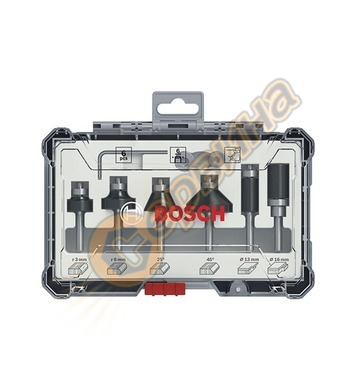 Комплект фрезери за дърво Bosch 2607017468 ф6мм - 6 части