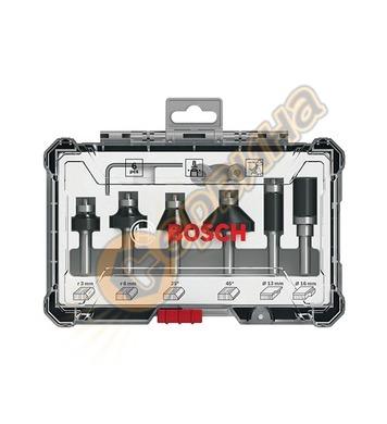 Комплект фрезери за дърво Bosch 2607017469 ф8мм - 6 части