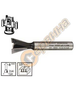 Фрезер за сглобки Bosch 2608628408 ф8мм D=14мм - 1бр.