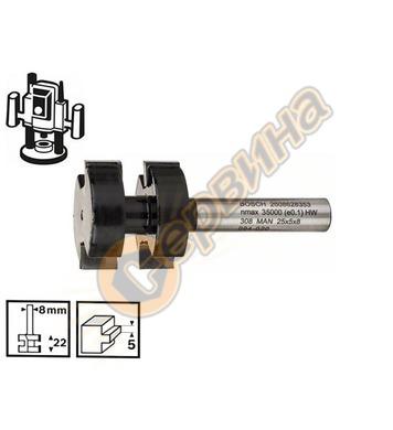 Фрезер за сглобки Bosch 2608628353 ф8мм D=25мм - 1бр.