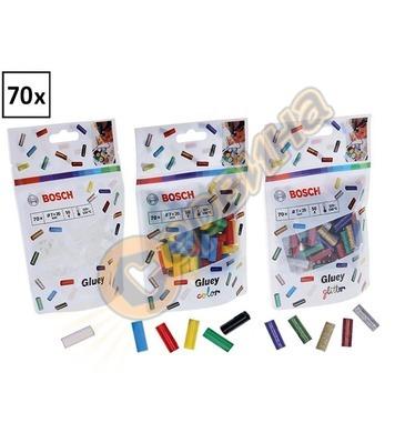 Лепилни пръчки Bosch Gluey 2608002004 прозрачни/цветни/блест