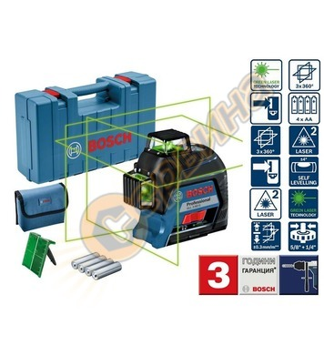 Линеен лазерен нивелир Bosch Professional GLL 3-80 G 30 m 06