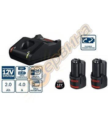 Стартов комплект Bosch 2x GBA 12V 2,0Ah + зарядно GAL 12V-40