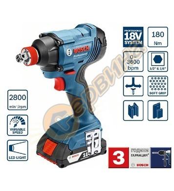 Акумулаторен ударен гайковерт Bosch GDX 180-LI Professional
