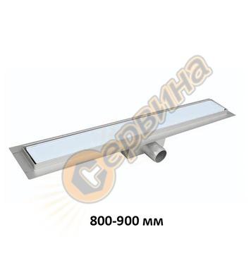 Линеен подов сифон  бяло стъкло FALA White Glass 75383 - 800