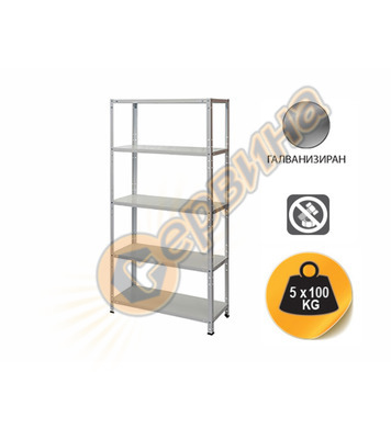 Метален стелаж с 5 метални рафта 180х90х40см 500кг - FairLin
