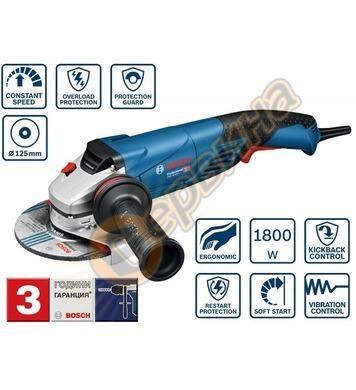 Ъглошлайф Bosch GWS 18-125 L Professional 06017A3000 - 1800W