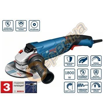 Ъглошлайф Bosch GWS 18-125 SPL Professional 06017A3300 - 180