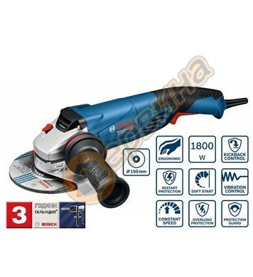 Ъглошлайф Bosch GWS 18-150 L Professional 06017A5000 - 1800W