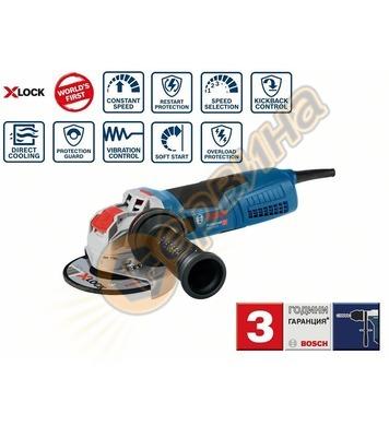 Ъглошлайф Bosch X-LOCK GWX 17-125 S Professional 06017C4002