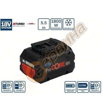 Aкумулаторна батерия Bosch ProCORE 18V 5.5 Ah Professional 1