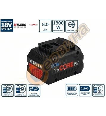 Aкумулаторна батерия Bosch ProCORE 18V 8.0 Ah Professional 1
