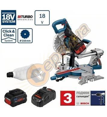 Акумулаторен потапящ циркуляр Bosch GCM 18V-216 Professional