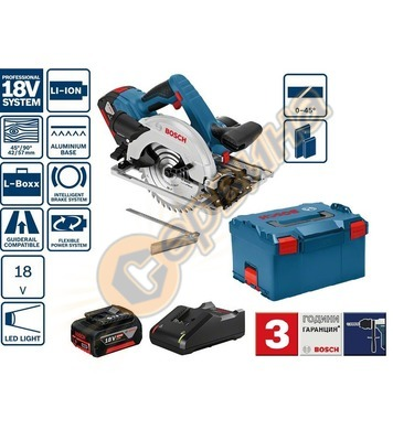 Акумулаторен ръчен циркуляр Bosch GKS 18V-57 G Professional