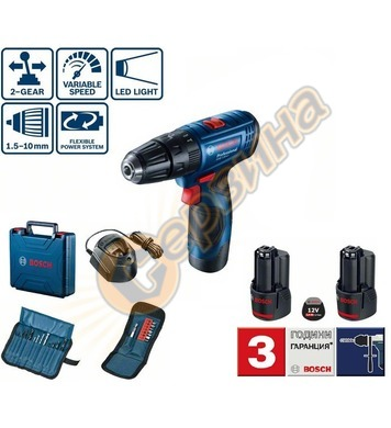 Акумулаторен ударен винтоверт Bosch GSB 120-LI Professional