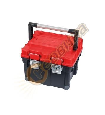 Куфар за инструменти Patrol HD Compact 1, черен с червен кап