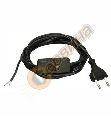 Захранващ кабел с ключ AS Schwabe 70632 - 2x0.75 кв.мм, 3 м,