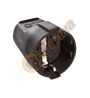 Електрически контакт AS Schwabe 45012 - тип куплунг, черен