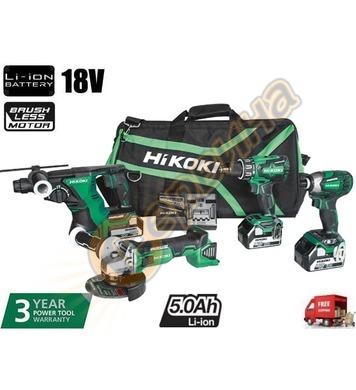 Комплект акумулаторни инструменти HiKoki-Hitachi KC18DG4L-WD